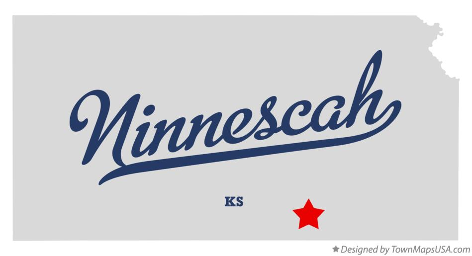 Map of Ninnescah Kansas KS