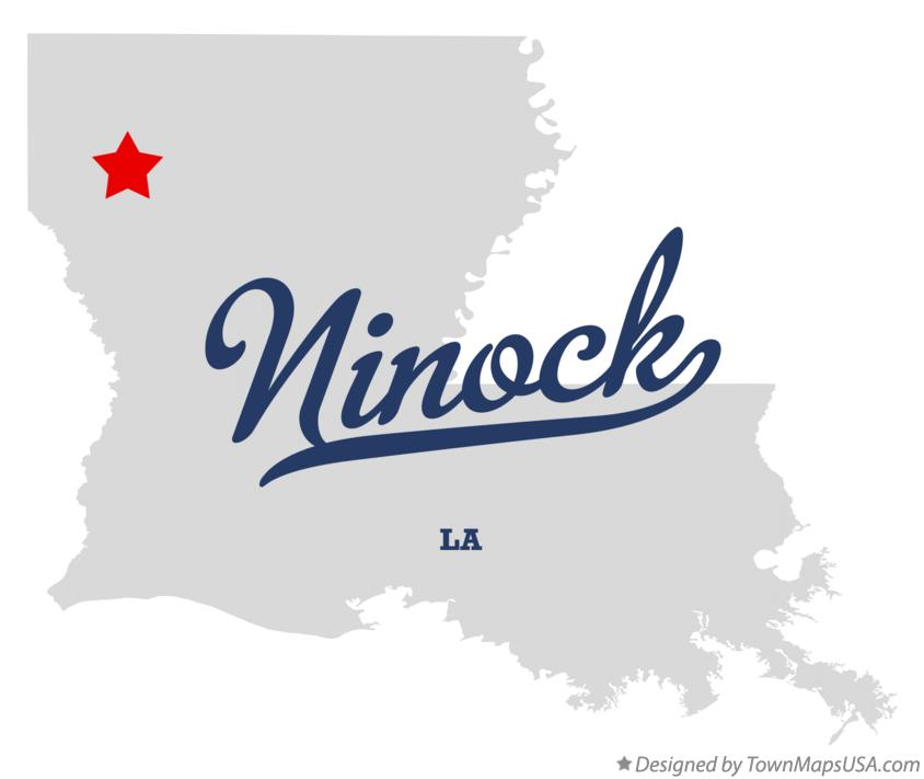 Map of Ninock Louisiana LA
