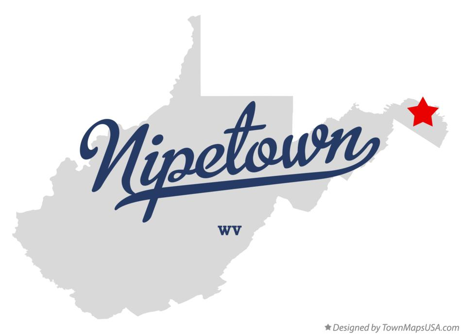 Map of Nipetown West Virginia WV