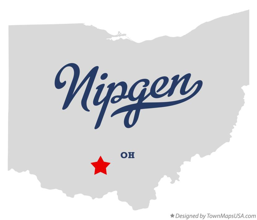 Map of Nipgen Ohio OH