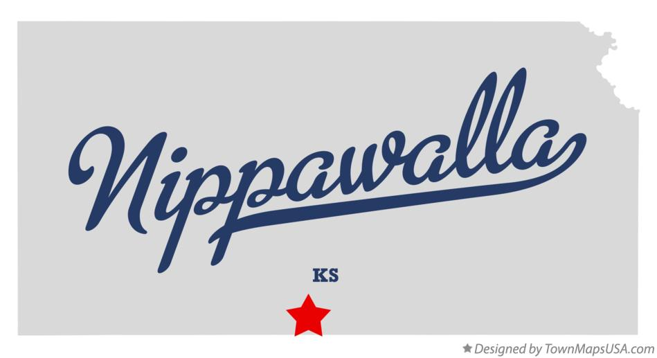Map of Nippawalla Kansas KS