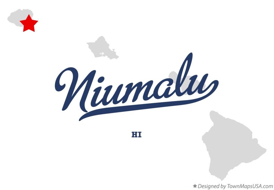 Map of Niumalu Hawaii HI