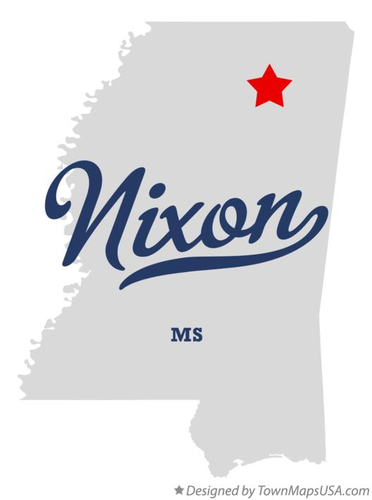 Map of Nixon Mississippi MS