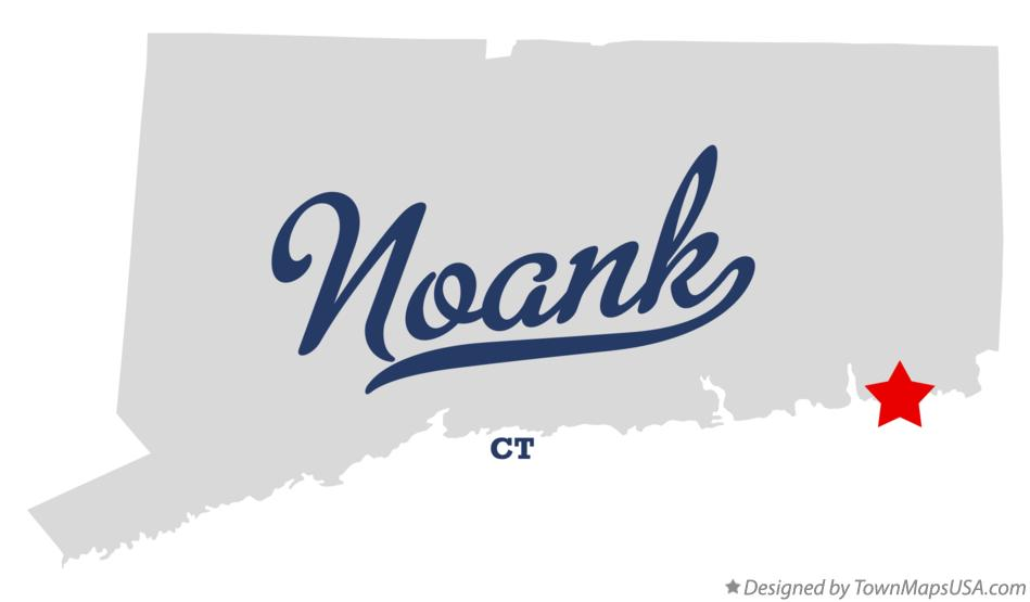 Map of Noank Connecticut CT