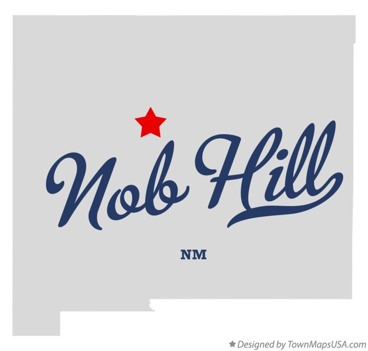 Map of Nob Hill New Mexico NM