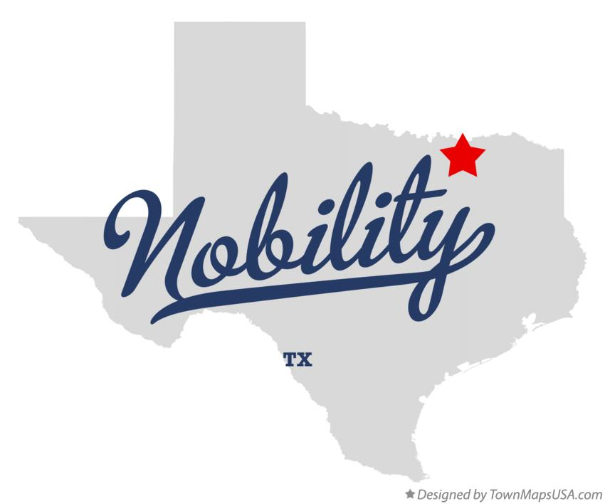 Map of Nobility Texas TX