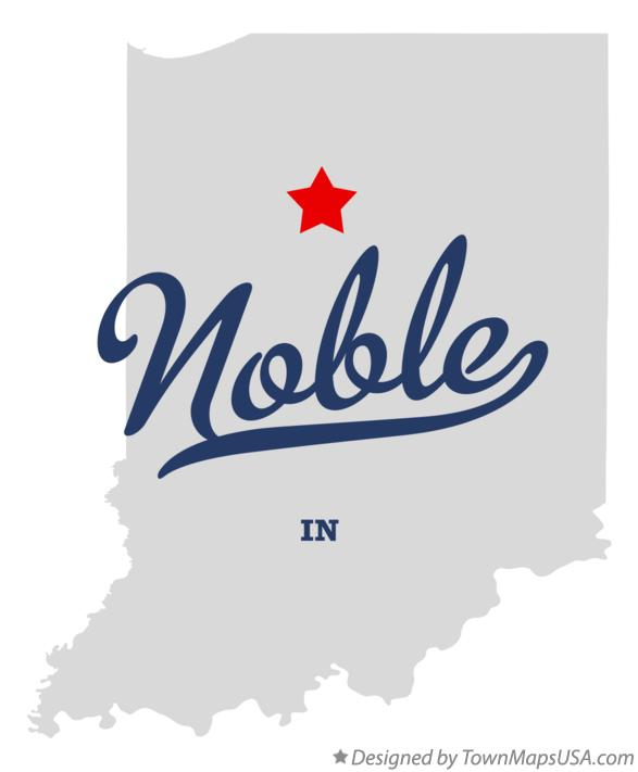 Map of Noble Indiana IN