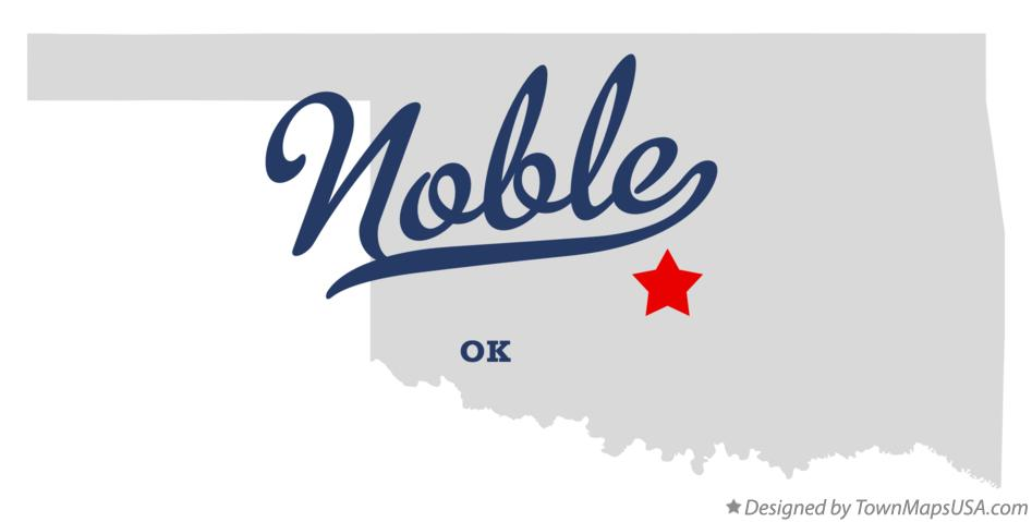 Map of Noble Oklahoma OK