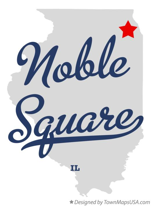 Map of Noble Square Illinois IL