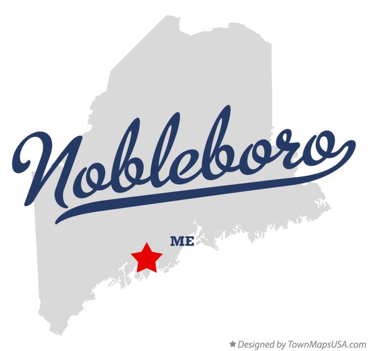 Map of Nobleboro Maine ME