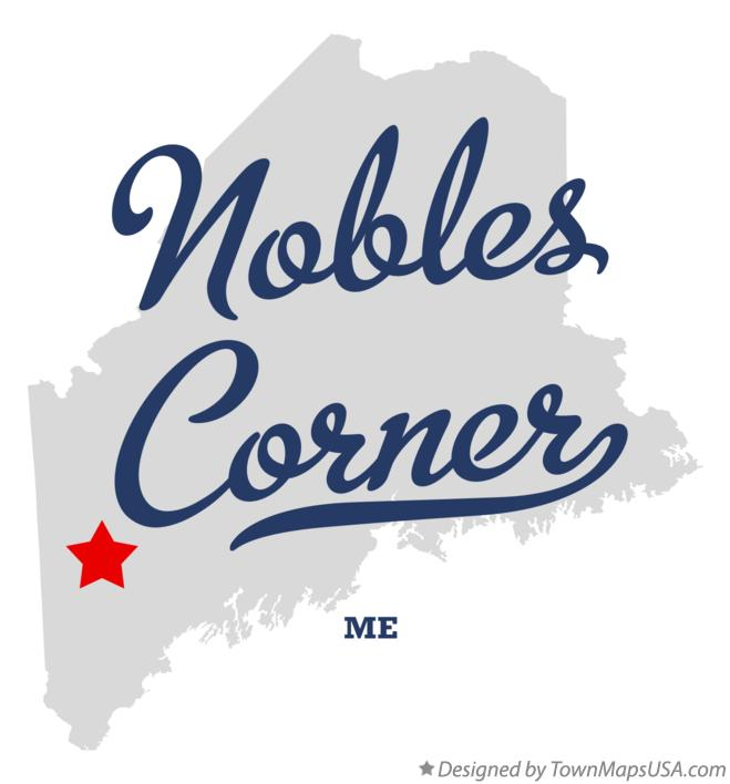 Map of Nobles Corner Maine ME