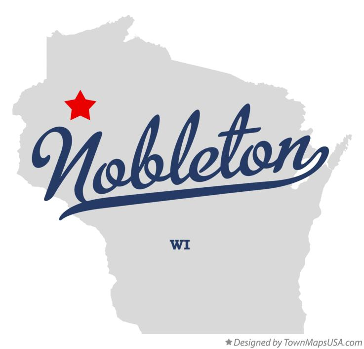 Map of Nobleton Wisconsin WI