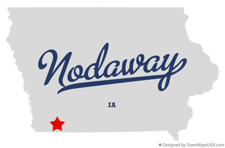 Map of Nodaway Iowa IA