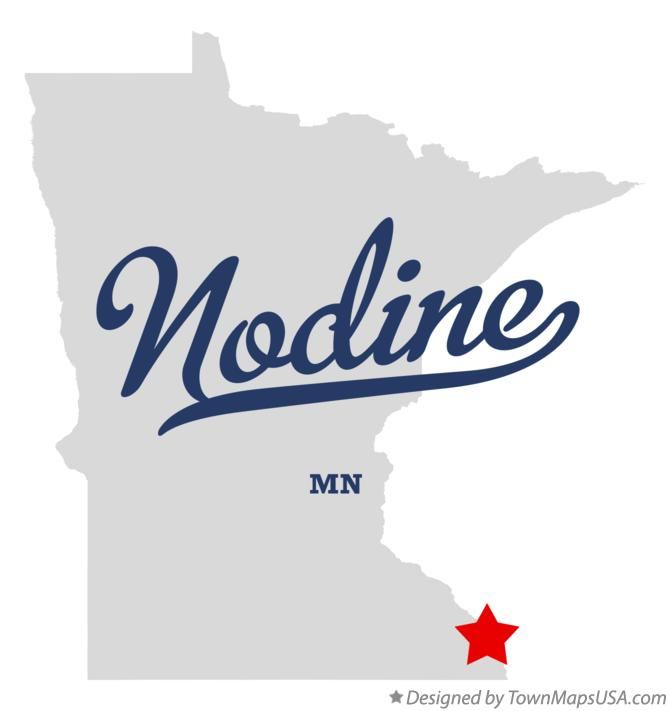 Map of Nodine Minnesota MN