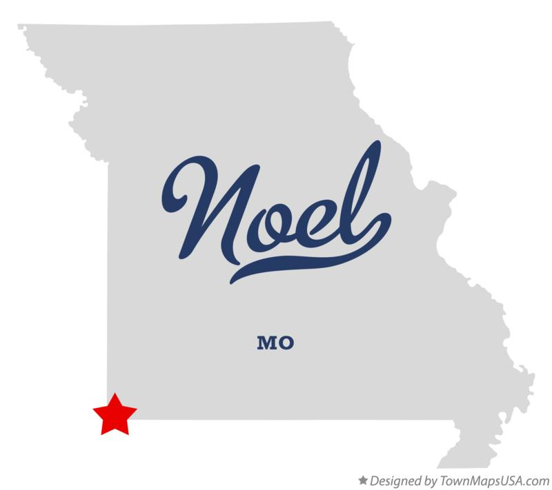 Map of Noel Missouri MO