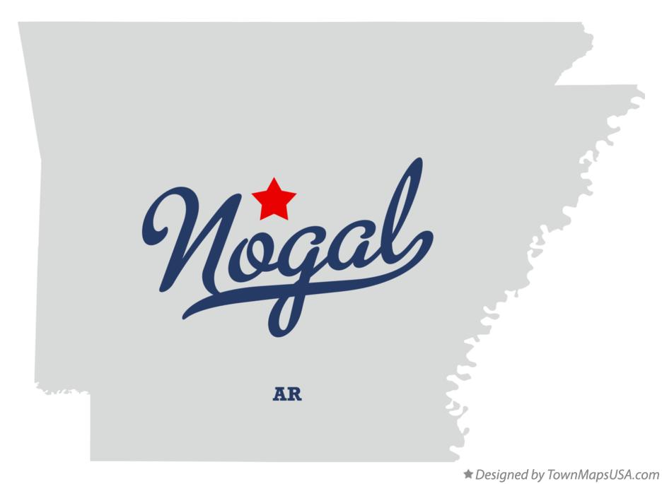 Map of Nogal Arkansas AR