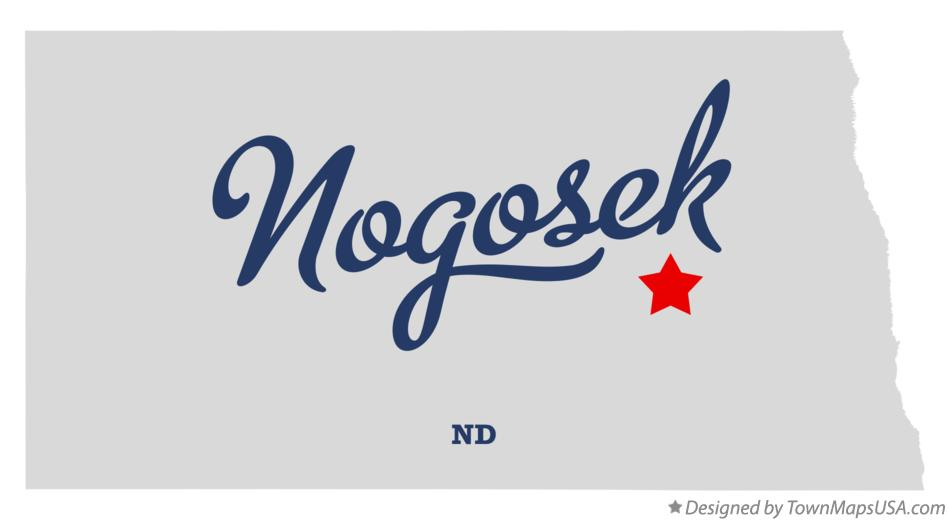 Map of Nogosek North Dakota ND