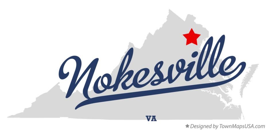 Map of Nokesville Virginia VA