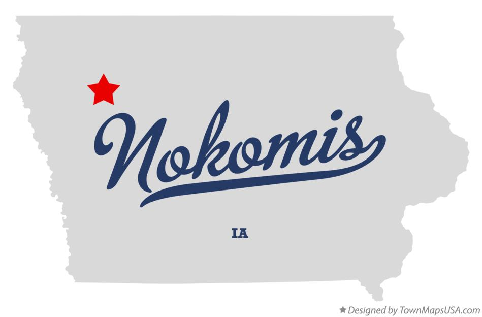Map of Nokomis Iowa IA