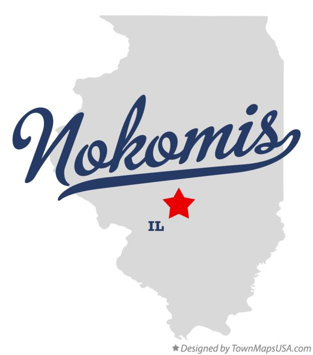 Map of Nokomis Illinois IL
