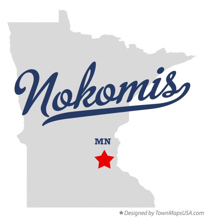 Map of Nokomis Minnesota MN