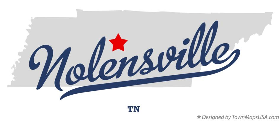 Map of Nolensville Tennessee TN