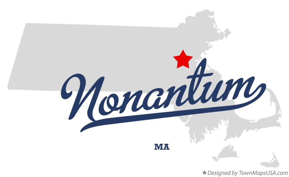 Map of Nonantum Massachusetts MA