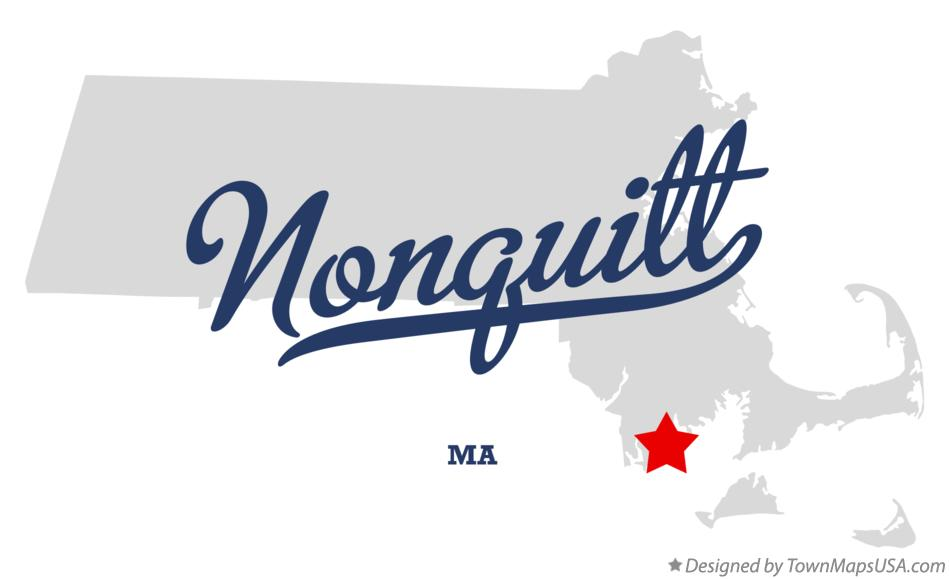 Map of Nonquitt Massachusetts MA