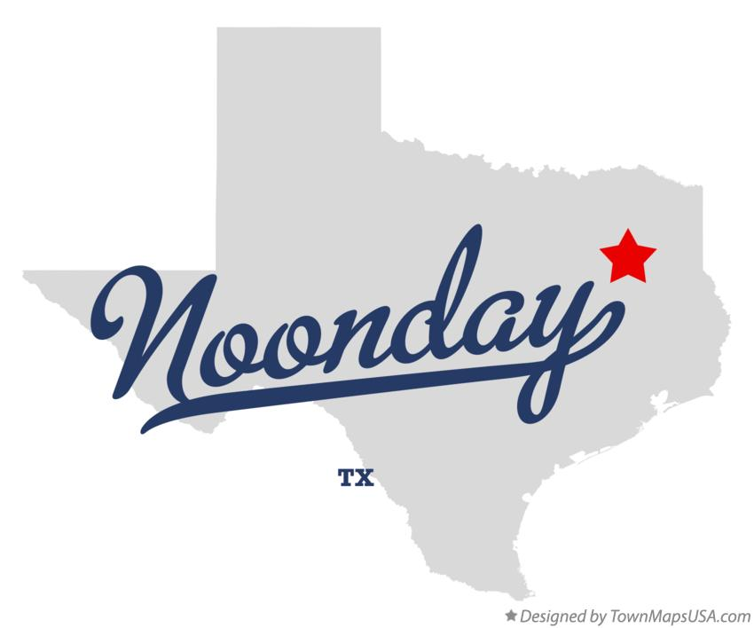 Map of Noonday Texas TX