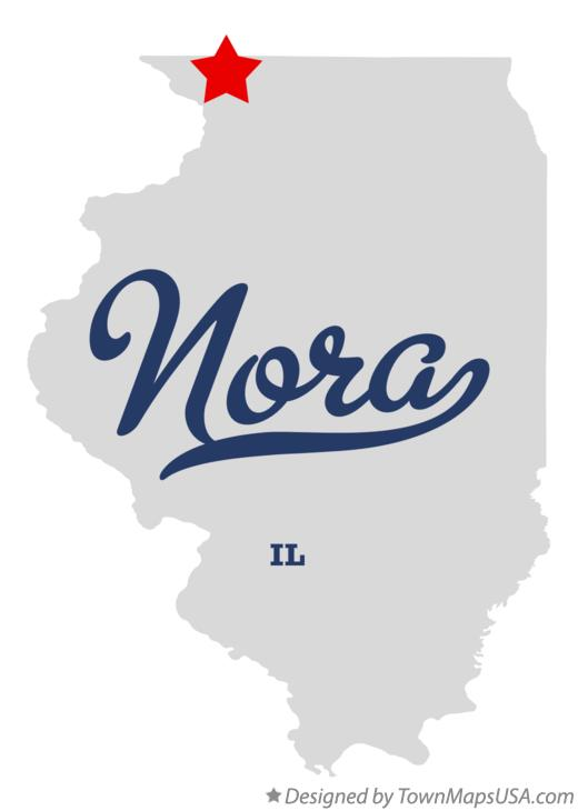 Map of Nora Illinois IL