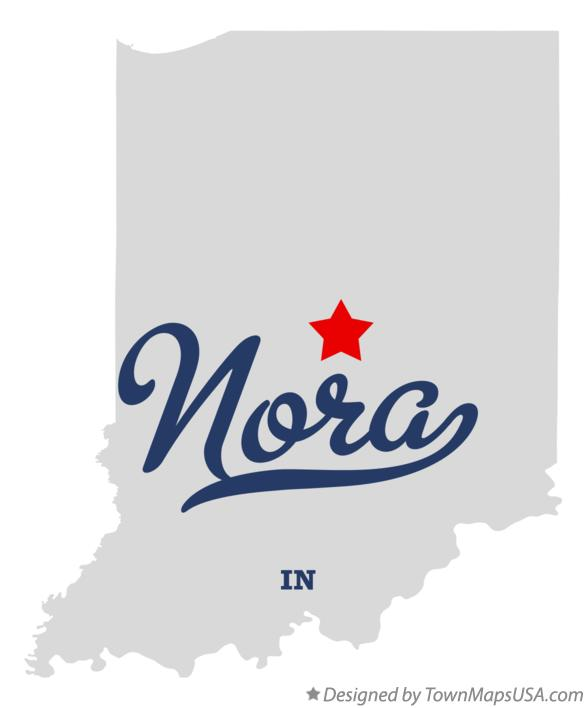 Map of Nora Indiana IN