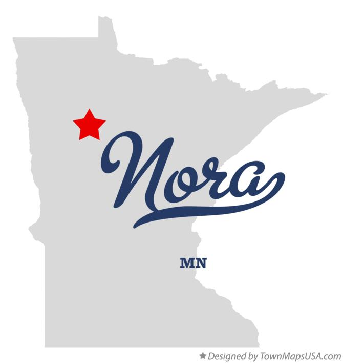 Map of Nora Minnesota MN
