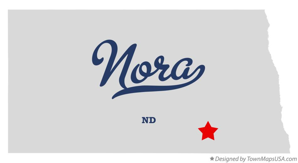 Map of Nora North Dakota ND