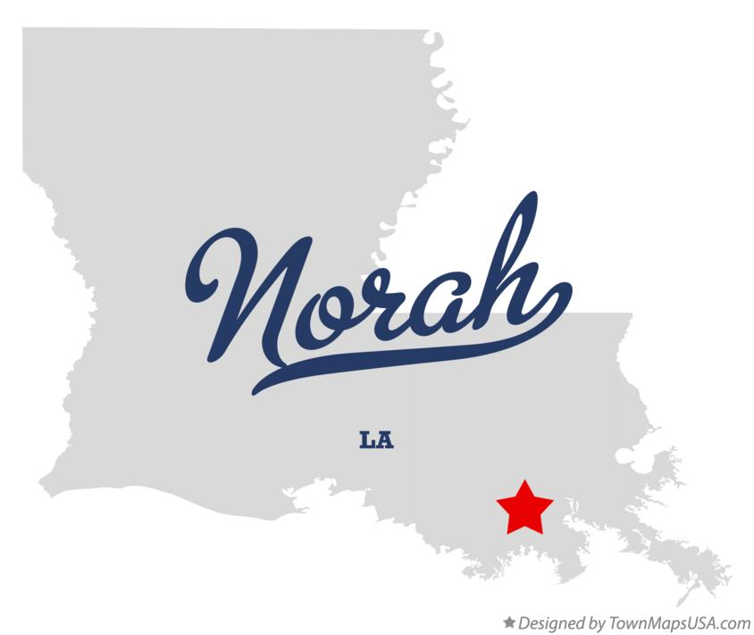 Map of Norah Louisiana LA