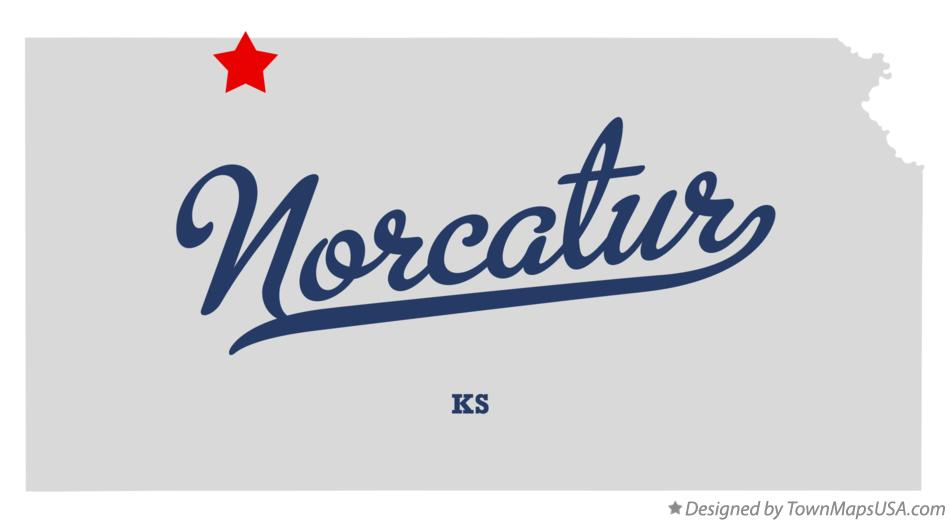 Map of Norcatur Kansas KS