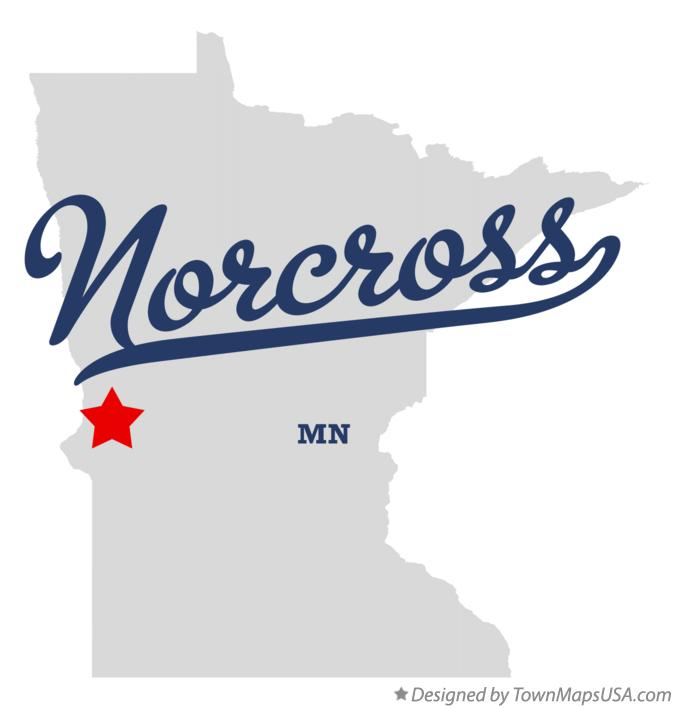 Map of Norcross Minnesota MN
