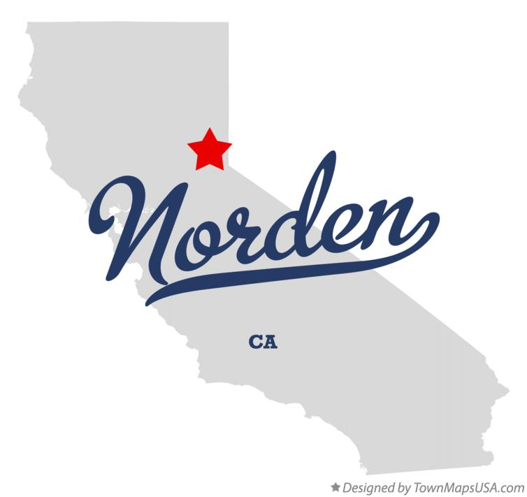Map of Norden California CA