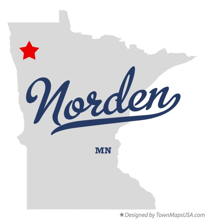 Map of Norden Minnesota MN