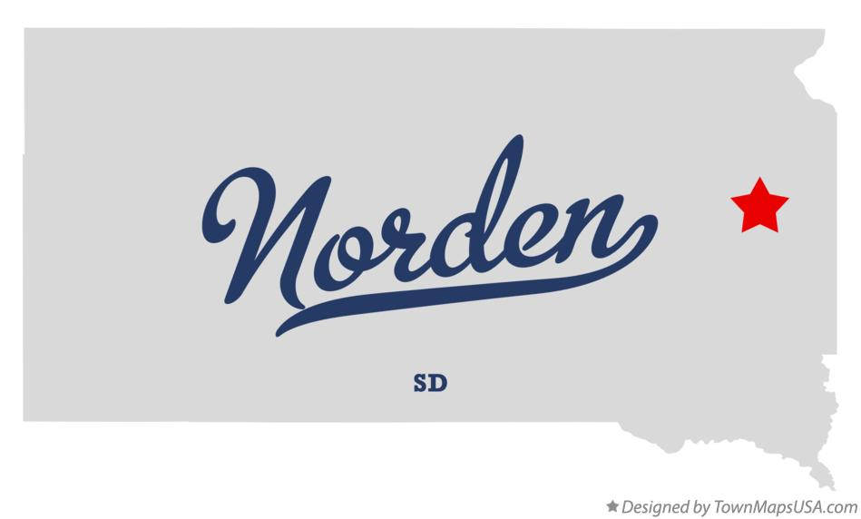 Map of Norden South Dakota SD