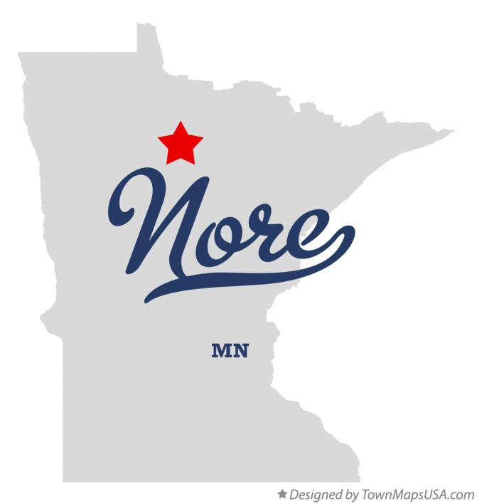 Map of Nore Minnesota MN