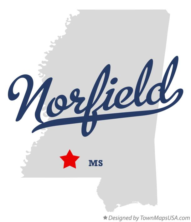 Map of Norfield Mississippi MS