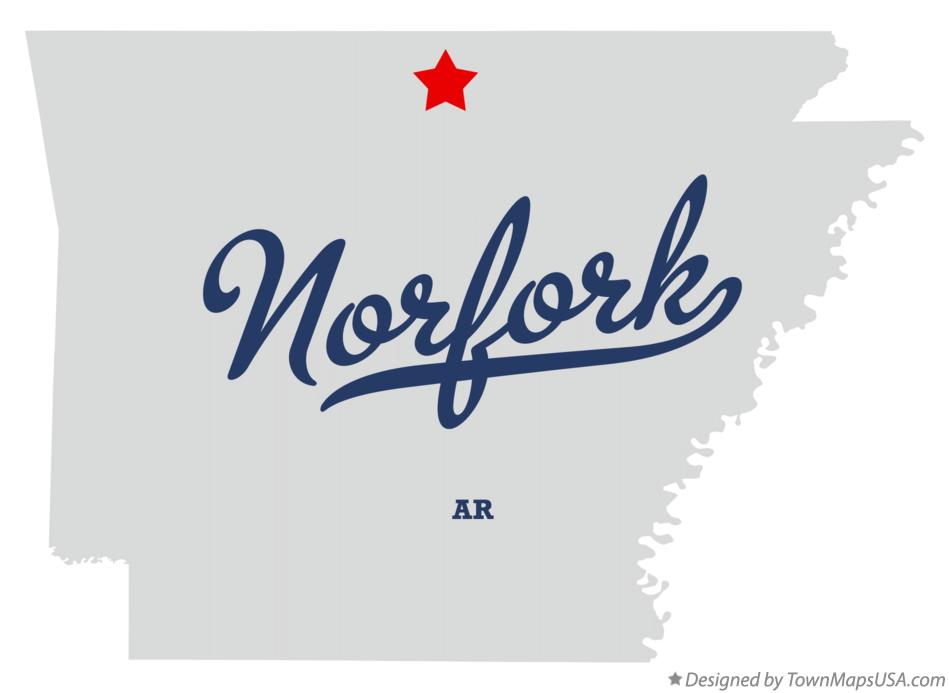 Map of Norfork Arkansas AR