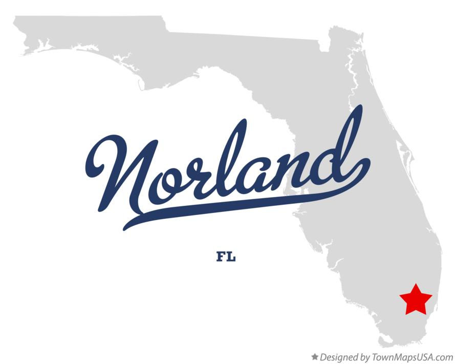 Map of Norland Florida FL