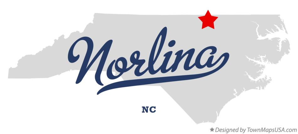 Map of Norlina North Carolina NC