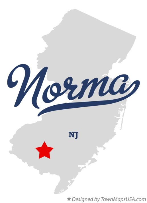 Map of Norma New Jersey NJ
