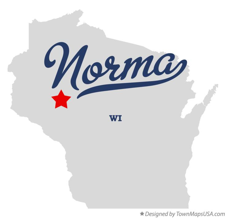 Map of Norma Wisconsin WI