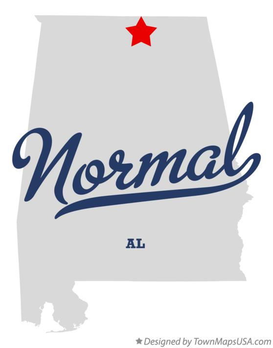 Map of Normal Alabama AL