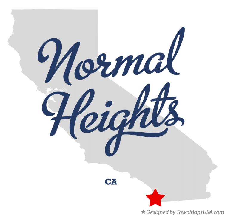 Map of Normal Heights California CA