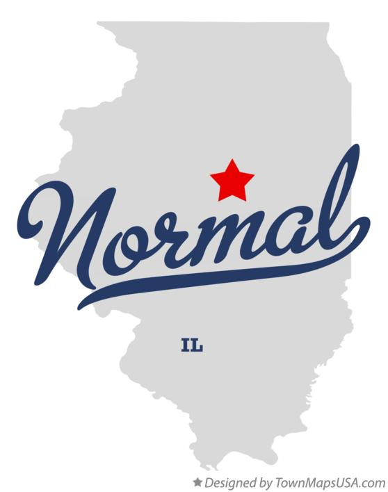 Map of Normal Illinois IL