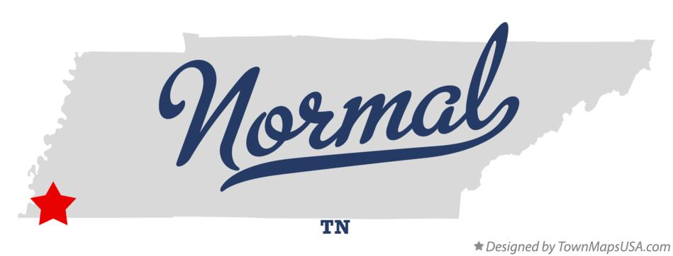 Map of Normal Tennessee TN